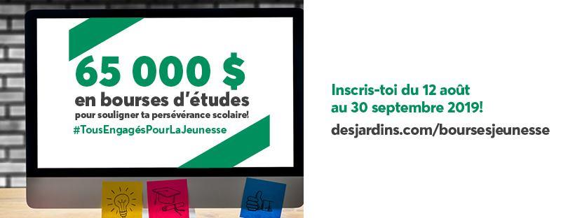 Programme de bourses jeunesse | Desjardins – Caisse du Plateau Montcalm