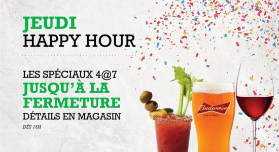 Jeudi Happy Hour | Blaxton Cartier – Restaurant Pub et Grill