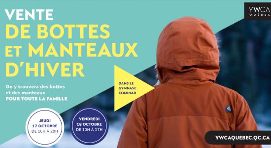 Vente de bottes et manteaux d'hiver | YWCA Québec