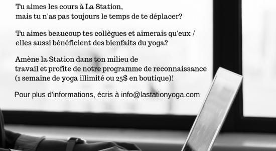 Programme de reconnaissance | Station Yoga  (La)