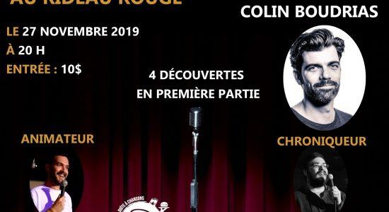 Colin Boudrias au Rideau Rouge