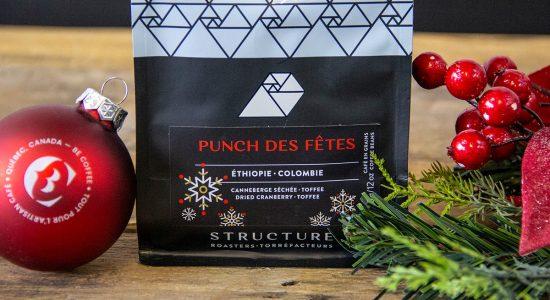 Sac échantillon de café Punch des Fêtes de Structure Roasters en cadeau | BeCoffee
