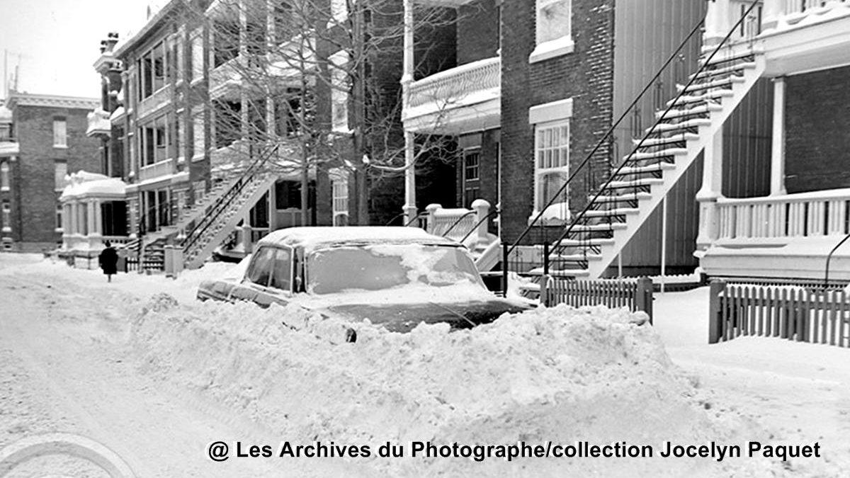 Montcalm dans les années 1960 : amoncellement de neige sur Saint-Cyrille | 8 mars 2020 | Article par Jean Cazes