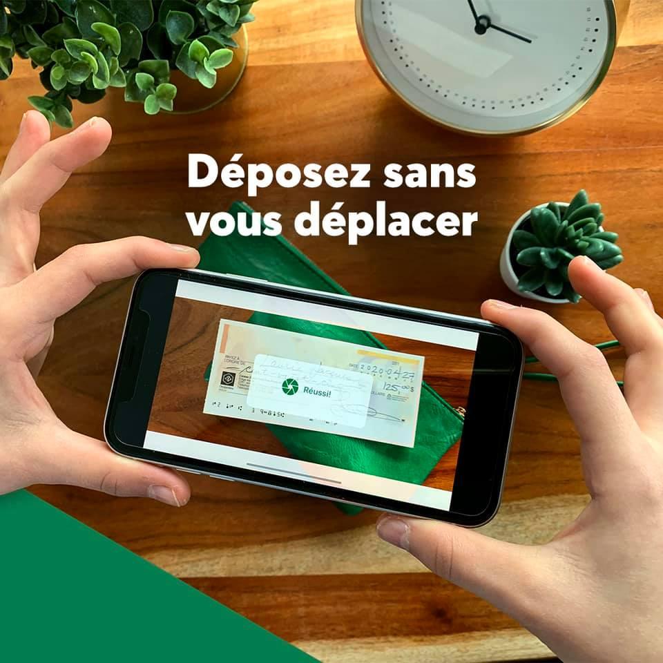 Dépôt mobile | Desjardins – Caisse du Plateau Montcalm