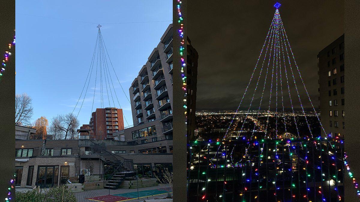 Un arbre de Noël géant se dresse au Manoir Manrèse | 18 novembre 2020 | Article par Suzie Genest