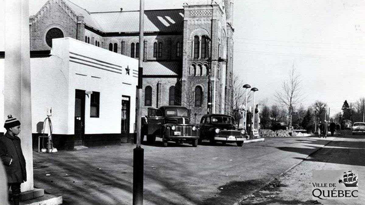 Saint-Sacrement dans les années 1950 : angle chemin Sainte-Foy – avenue Saint-Sacrement | 20 décembre 2020 | Article par Jean Cazes