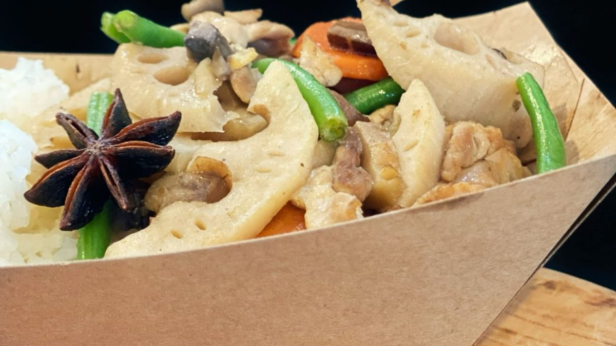 Le poulet Bamboo, qui définit le mieux ce qu'est «umami», la cinquième saveur.