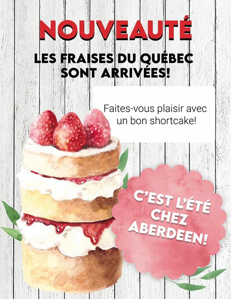 Shortcake aux fraises - Glacier Aberdeen