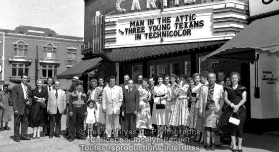 Montcalm dans les années 1950 : le cinéma Cartier - Jean Cazes