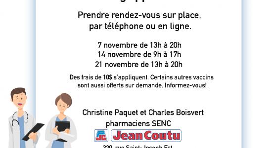 Campagne de vaccination anti-grippale | Jean Coutu