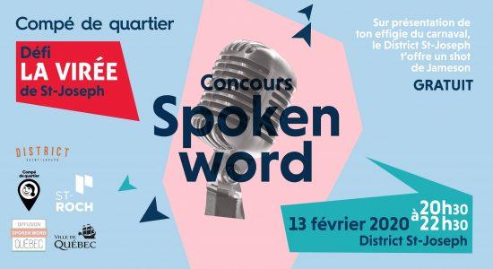 Concours de Spoken word au District Saint-Joseph