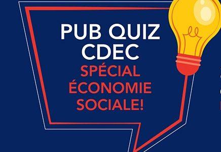 Pub Quiz CDEC – Spécial économie sociale!